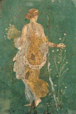 Флора (Весна) или Диана. Фрагмент фрески из Стабий. 1 в. до н.э..