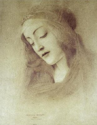 Худ. Fernand Khnopff. The Virgin (after Botticelli)